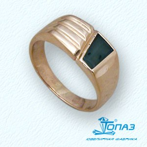 Кольцо с ониксом Линии Любви фото