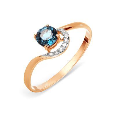 Кольцо с топазом и бриллиантами Линии Любви