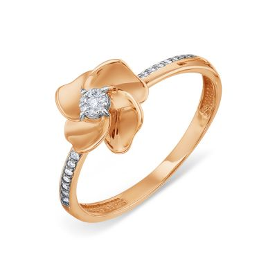Кольцо с бриллиантами Линии Любви